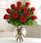 Vazo içerisinde 12 kırmızı gül  Muğla uluslararası çiçek gönderme