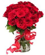 21 adet vazo içerisinde kırmızı gül  Muğla uluslararası çiçek gönderme