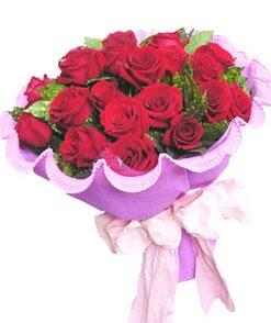 12 adet kırmızı gülden görsel buket  Muğla çiçek online çiçek siparişi