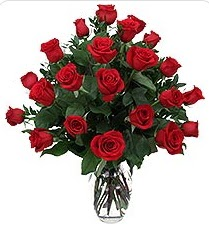 Muğla çiçek servisi , çiçekçi adresleri  24 adet kırmızı gülden vazo tanzimi