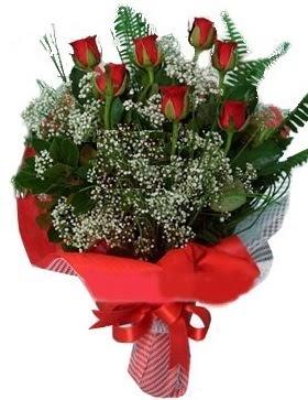 7 kırmızı gül buketi  Muğla çiçek , çiçekçi , çiçekçilik