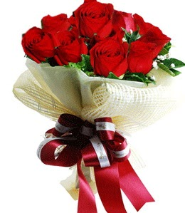 9 adet kırmızı gülden buket tanzimi  Muğla çiçek siparişi vermek