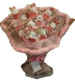 12 adet tavşan buketi  Muğla ucuz çiçek gönder