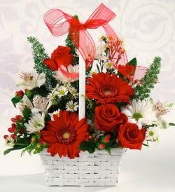 Karışık rengarenk mevsim çiçek sepeti  Muğla güvenli kaliteli hızlı çiçek