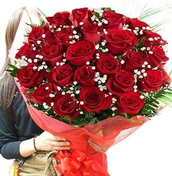 Kız isteme çiçeği buketi 33 adet kırmızı gül  Muğla çiçek siparişi vermek