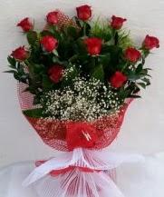 11 adet kırmızı gülden görsel çiçek  Muğla uluslararası çiçek gönderme