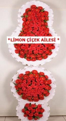 3 katlı kırmızı düğün açılış çiçeği  Muğla cicek , cicekci