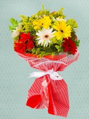 Karışık Gelbera Buketi  Muğla çiçek servisi , çiçekçi adresleri