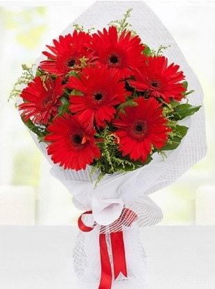 Kırmızı Gelbera Buketi  Muğla güvenli kaliteli hızlı çiçek