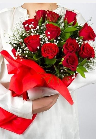 Aşk Gülleri 11 Adet kırmızı gül buketi  Muğla cicekciler , cicek siparisi
