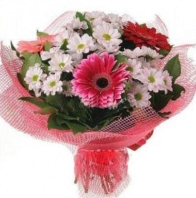 Gerbera ve kır çiçekleri buketi  Muğla güvenli kaliteli hızlı çiçek