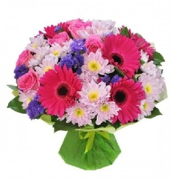 Karışık mevsim buketi mevsimsel buket  Muğla uluslararası çiçek gönderme