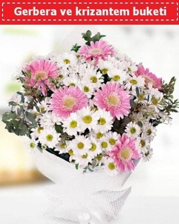 Papatya ve Gerbera Buketi  Muğla 14 şubat sevgililer günü çiçek