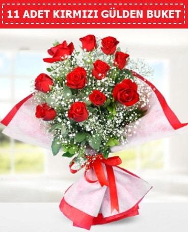 11 Adet Kırmızı Gül Buketi  Muğla güvenli kaliteli hızlı çiçek