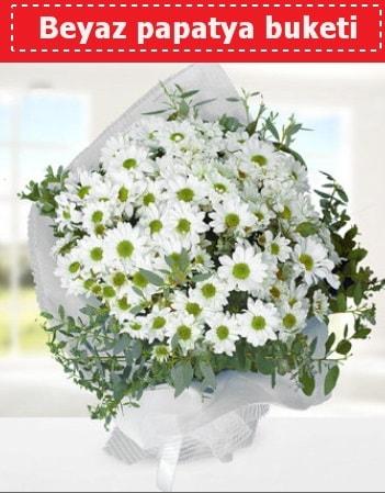 Beyaz Papatya Buketi  Muğla çiçek yolla