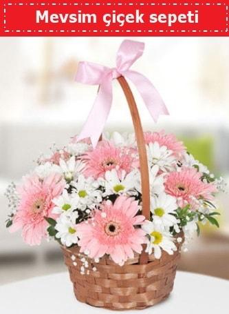 Mevsim kır çiçek sepeti  Muğla 14 şubat sevgililer günü çiçek